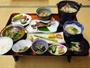*夕食一例/夕朝共に、旬にこだわり山の宿らしく川魚や山菜、キノコなどを使った健康的な和食をご用意。