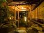 【露天風呂】雰囲気のある夜の露天風呂