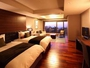 琉球畳を一部用いた和モダンなデラックスルーム42.75平米(2-4名)和洋折衷で開放的なお部屋でゆったり☆
