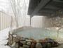 ◆湯処 露天風呂(冬)/大沼の風を感じる温泉露天風呂で、雪見風呂をお愉しみください(一例)