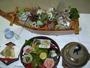地元定置網でとれた天然魚の船盛料理(2人前・一例)
