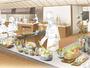 けやき食堂は素材を見て楽しみながら味わうオープンキッチンに。「森のオーベルジュビュッフェ」どうぞ