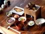 ご朝食(一例)もち麦と古代米入りのご飯 自家製納豆<370Kカロリー未満>