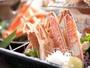 甘-い蟹刺し。蟹刺しは別注料理としてもご用意できます。予めお問合わせくださいませ。