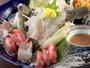 【夕食刺身】何といっても魚介類は新鮮そのもの。真鶴であがった季節の魚をお楽しみください。