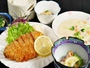 【夕食】日替わり定食例★とんかつ定食