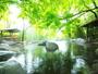 【大露天風呂】月宿る打たせ湯もある貸切の露天風呂 夜明け-深夜12時まで