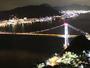 【関門橋】ライトアップされた橋は昼間とは違う印象。とてもロマンチックです♪