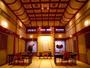 夕朝ともにこのダイニングにて「未来ごはん」をご用意致します。54畳あり、天井も高く開放感があります