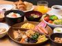 朝食の和洋食ブッフェ:盛り付け一例