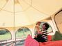 ファミリースクエアにたけのこテントが登場!子供は外で元気に遊んで、ママたちはちょっと休憩♪