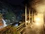 ≪夜の露天風呂付大浴場≫渓(たに)の湯からのライトアップ黒部峡谷
