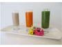 ファスティンク゛朝食 3色の野菜や果物でつくるジュース