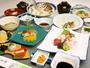 上会席一例。3つの特別室にご宿泊にお客様にご提供する会席料理となります。