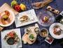 """""""【ディナーコース""""""""恵り""""""""】 滋賀に溢れるたくさんの恵みを一皿一皿で表現し、滋賀を巡る旅へ誘います"""""""