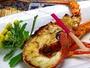 ロブスターの黄金焼き。お料理のオプションとして追加注文も出来ます。