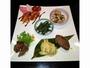 ★夕食前菜一例★日光ならではのゆば・鹿肉のお寿司などハミングバードオリジナリティ溢れる一皿♪