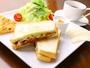 【朝食全体の一例】焼き立てパンを使った美味しい朝食です