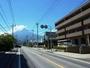 ホテル前より雄大な富士山が!