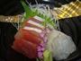日本海にこだわり、夕食のメイン料理のお造り。
