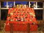 100体の人形を1人で操り公演した竹原文楽の人形師が造ったひな人形。やわらかい表情が魅力