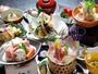 栃木の食材をふんだんに使用した「とちぎ和牛の陶板焼き・しゃも肉団子と栃木野菜の鍋」