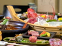 【夕食】地魚の舟盛は季節毎の新鮮な魚をどうぞ。