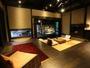 【客室/弓張】囲炉裏、畳の間、寝室、岩露天、内湯からなる広々とした人気のお部屋です