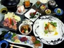【リニューアル記念夕食(一例)】クエ、イノブタなど「紀州 山海の幸」を使用した特別メニューをご用意♪