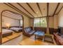 全室がおしゃれなカラー畳の個性的なお部屋です。(ワイドルーム)