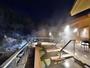 冬の渓流露天風呂『棚湯』で雪見露天