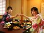 海の幸・山の幸、地元食材にこだわるお食事は、酒どころ新潟の地酒とも相性抜群です!