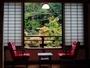 湯本荘の客室は全室川沿い。四季折々の風景が愉しめる。