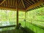 鮮やかな緑があふれる癒しの露天風呂「慶長の湯」