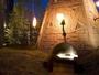 モニュメント&足湯/北方民族のテント住居をイメージした「火焔の塔」。塔内部には無料の足湯が
