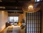 星見台付の露天風呂付客室「星」畳敷きの寛げる客室です。