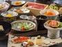 夕食は四季折々の旬を味わう和食会席。「温物」「進鉢」「食事」は3種類からお選び頂けます。(一例)