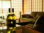 ライブラリーでワインを傾けながら過ごす落ち着く空間です。