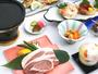 *ご夕食アップグレード-さくら豚の溶岩焼き-肉のうまみたっぷり!