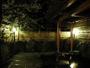 静かな夜の露天風呂