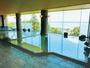 温泉大浴場は4階です。北浦が見渡せる景色は絶景です。
