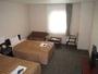 ツインルームのお部屋はユニットバスになっております。