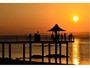 映画のワンショットのような!フサキビーチの夕陽♪