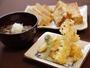 「名物」揚げたて天ぷらと蕎麦