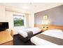 ツインルーム15平米★シモンズベッド・テンピュール枕★和歌山城がご覧いただける客室もあります