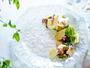 【夕食一例】グランデフルコース夏メニューよりポワソン-ロイヤルフィッシュのグリエ