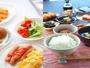 朝食バイキング無料サービス レストラン「花茶屋」⇒6:30-9:00