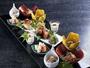 日本料理懐石前菜イメージ。夕食は月替わりの献立をご準備しております。