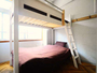 【3F男性専用客室】広々とした2段ベッド