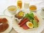 美瑛産食材をつかったヘルシーな朝食☆朝食は7時-9時まで。